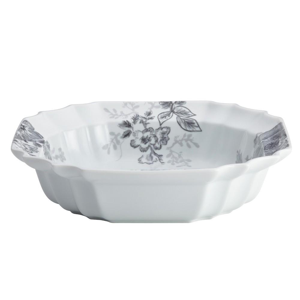 Bonjour Shaded Garden Serving Bowl (10.5), White