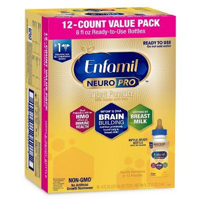 Enfamil NeuroPro Ready to Use Infant Formula Bottles - 12ct/8 fl oz Each