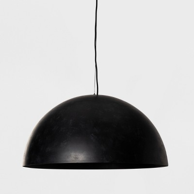 Metal Dome Extra Large Pendant Lamp Black (Includes Energy Efficient Light Bulb)- Project 62™ + Leanne Ford