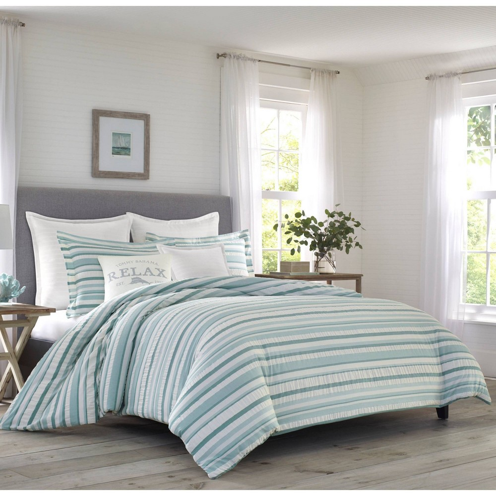 Relax By Tommy Bahama King Clearwater Cay Comforter & Sham Set Blue