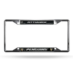 NHL Pittsburgh Penguins View Chrome License Plate Frame