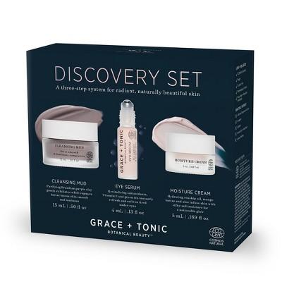 Grace + Tonic Discovery Botanical Skincare Set   0.769oz by Grace + Tonic Botanical Beauty