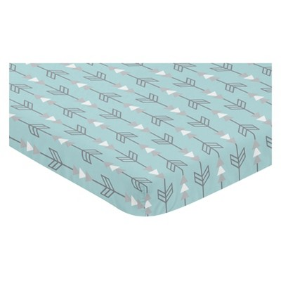 Sweet Jojo Designs Mini Fitted Sheet - Earth and Sky Arrows