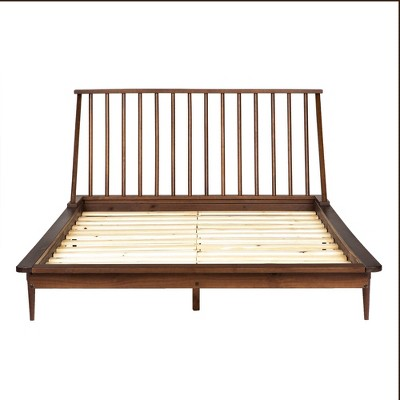 Queen Mid-Century Modern Solid Wood Spindle Bed - Saracina Home : Target