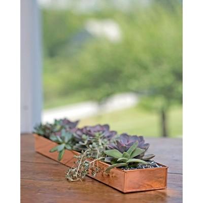 "Rectangular Copper Plant Tray, 24"" x 5"" - GARDENER'S SUPPLY CO."