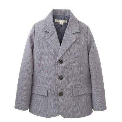 Hope & Henry Boys' Grey Herringbone Suit Jacket, Kids