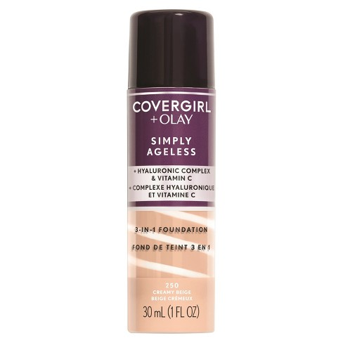 COVERGIRL + Olay Simply Ageless 3-in-1 Liquid Foundation with Hyaluronic Complex + Vitamin C - 1 fl oz - image 1 of 3