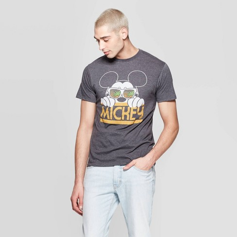 3ed074296e Men's Disney Mickey Mouse Short Sleeve Crewneck South Peeking Mickey  Graphic T-Shirt - Awake Gray