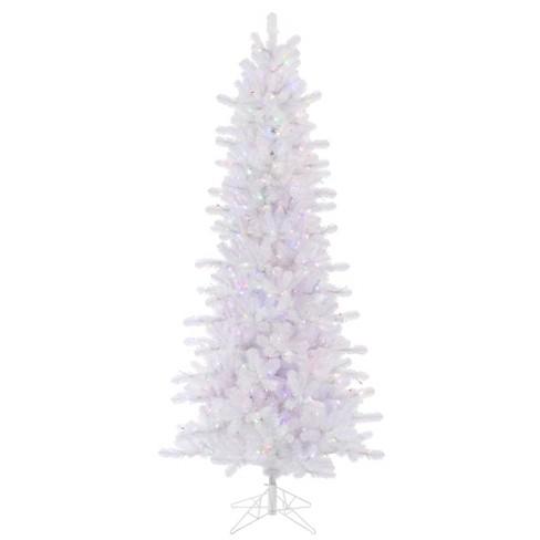 Vickerman 10 X 52 Crystal White Slim Artificial Christmas Tree Multi Colored Led Lights Target