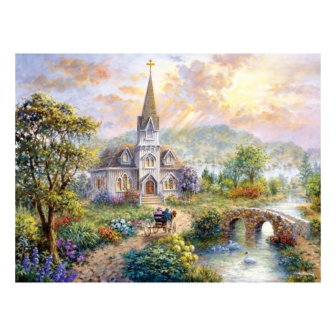 "Milton Bradley 500pc Puzzle - Nicky Boehme ""Pray for World Peace"" - image 1 of 2"