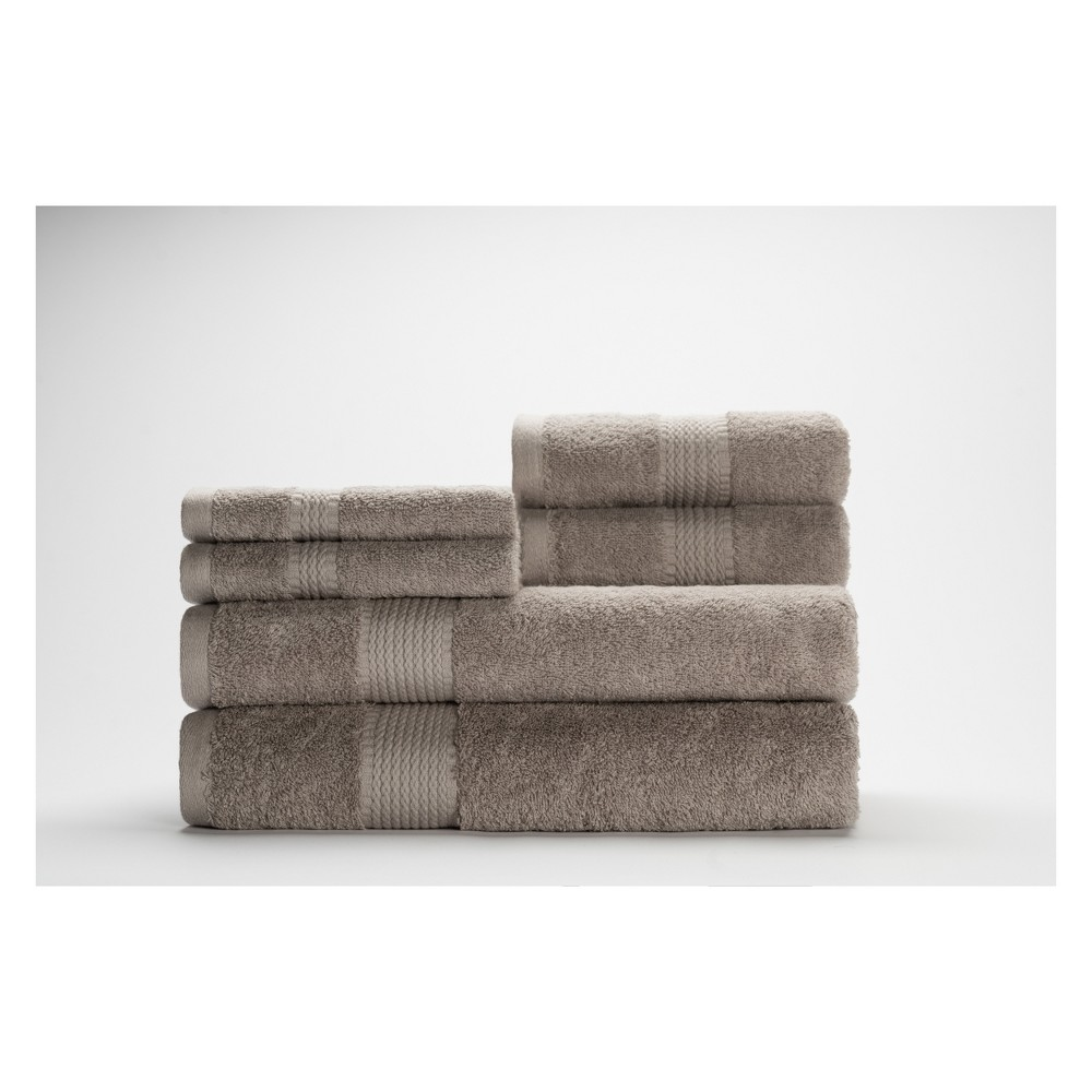 Image of 6pc Cromwell Nickel Bath Towels Sets - Caro Home