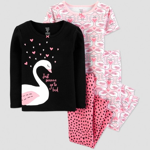 Toddler Girls  4pc Swan Pajama Set - Just One You® Made By Carter s ... de6051a18