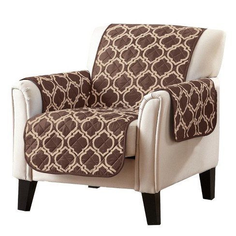Home Fashion Designs Adalyn Collection Printed Chair Furniture Protector Chocolate Target