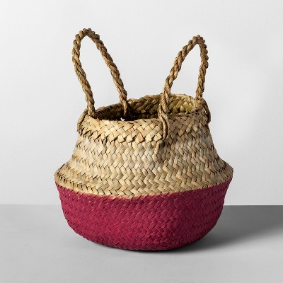 Decorative Pop Up Belly Basket Natural Purple 8.85 x8  - Opalhouse™