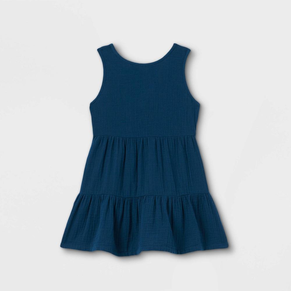 Toddler Girls 39 Tiered Tank Dress Cat 38 Jack 8482 Blue 2t