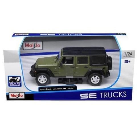 b84db500346 2015 Jeep Wrangler Unlimited Green 1/24 Diecast Model Car By Maisto ...