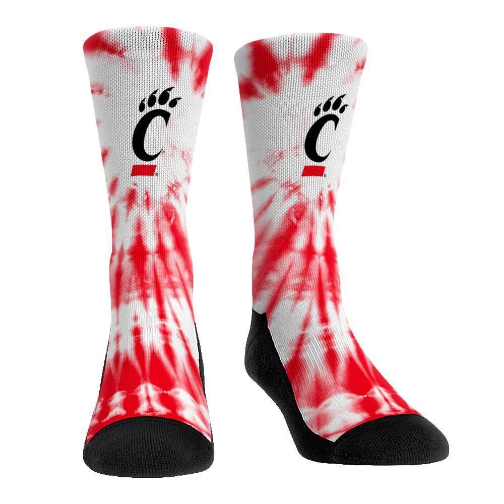 Ncaa Cincinnati Bearcats Adult Tie Dye Socks L Xl