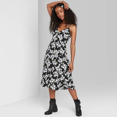 Women's Floral Print Sleeveless Tiered Dress - Wild Fable™