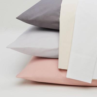 Casaluna King 500 Thread Count Washed Supima Sateen Solid Sheet Set Natural