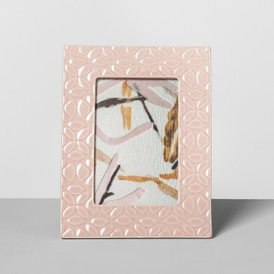 Embossed Ceramic Frame Pink 4 x 6  - Opalhouse™