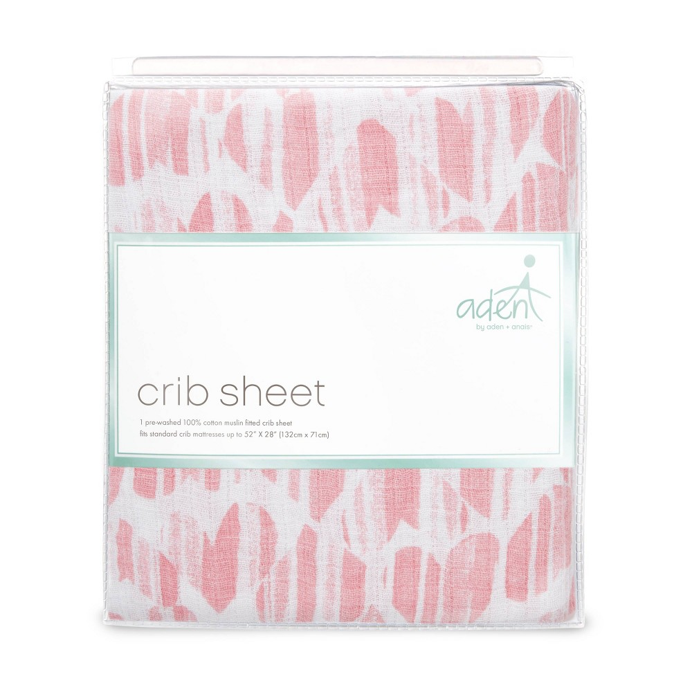 Image of aden by aden + anais Crib Sheet - Briar Rose - Pink Hearts