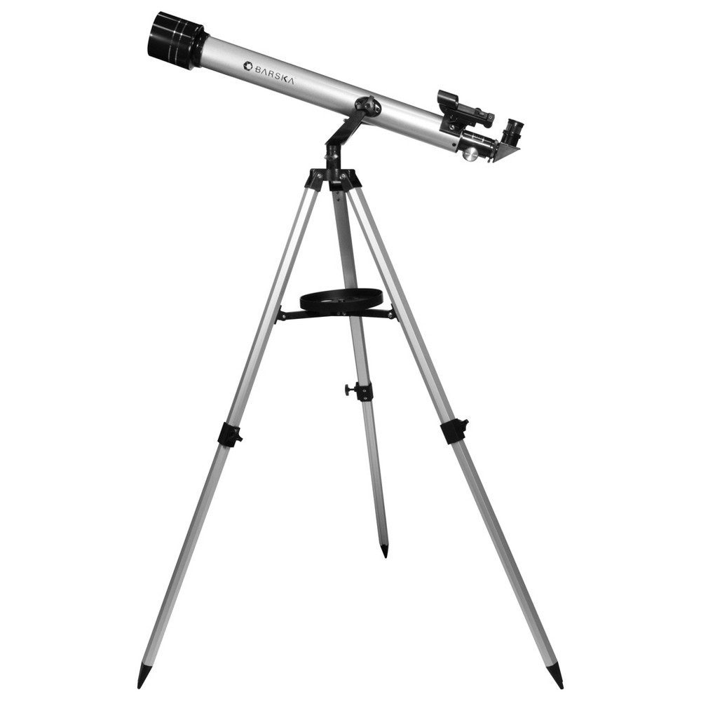 Image of Barska 600 Power - Starwatcher Refractor Telescope - Silver