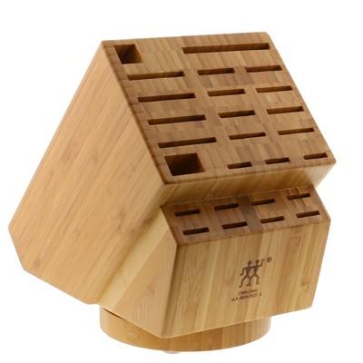 ZWILLING 26-slot Bamboo Swivel Knife Block