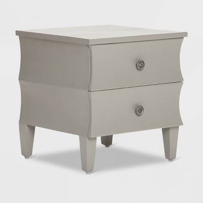 Arlan Side Table with 2 Drawers Gray - Adore Decor