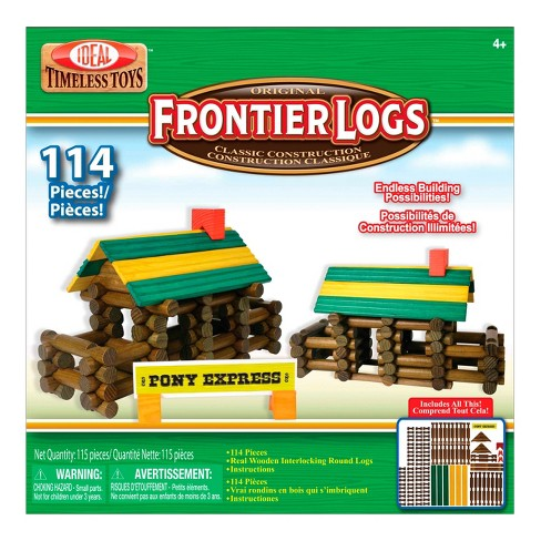 Ideal Frontier Logs Classic All Wood 114-Piece Construction Set - image 1 of 2