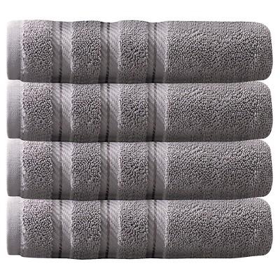 4pc Antalya Turkish Hand Towels Set Gray - Makroteks
