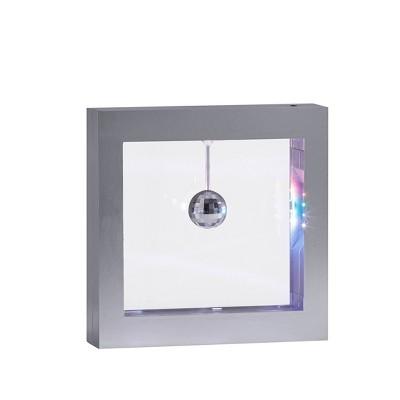 "9"" LED Disco Ball Light Box Silver - Adesso"