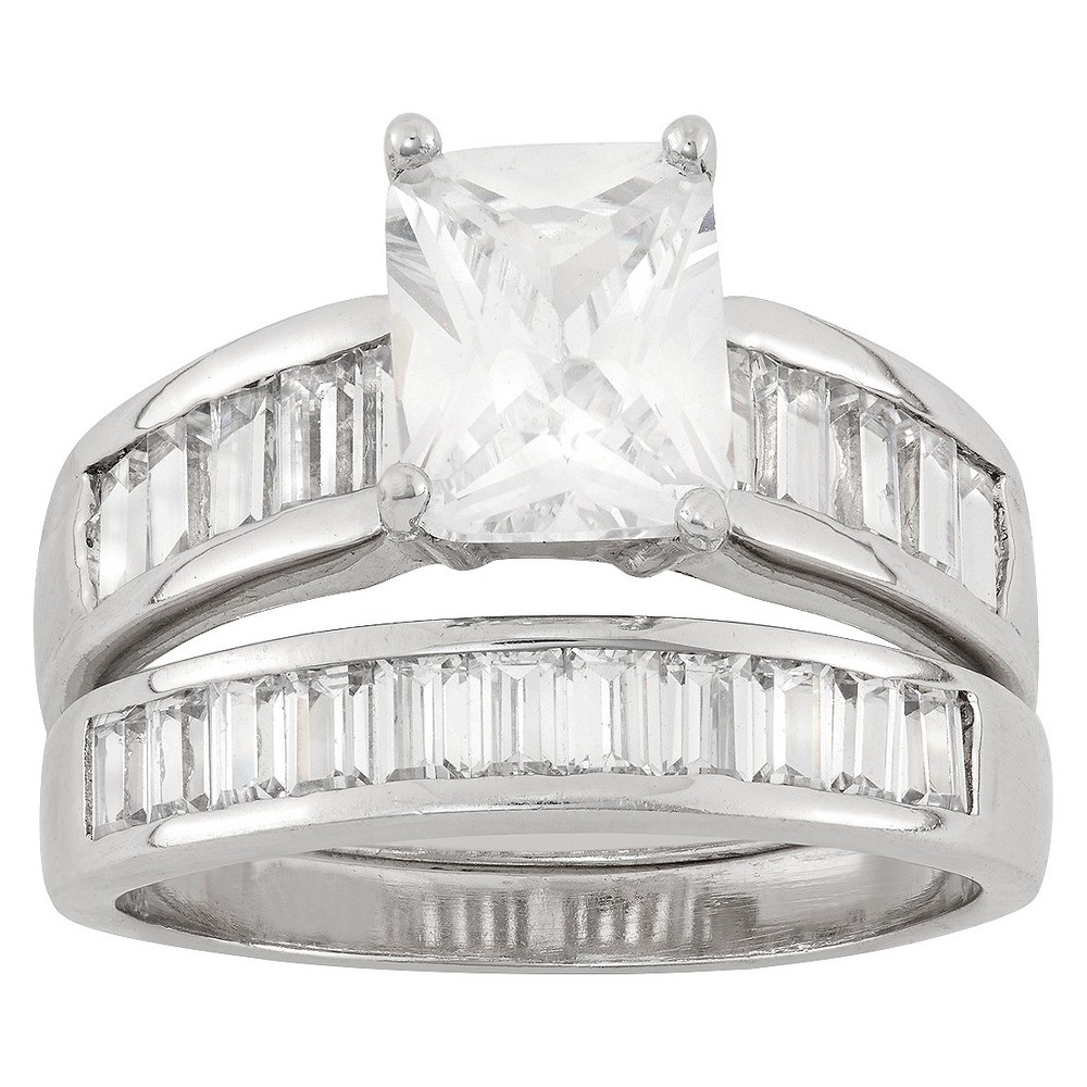 5.12 CT. T.W. Cubic Zirconia 2 Piece Bridal Set Ring In Sterling Silver - (10), Girl's