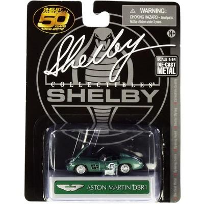 Aston Martin DBR1 #5 Green Metallic 1/64 Diecast Model Car by Shelby Collectibles
