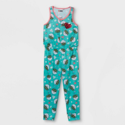 Girls' LEGO Star Wars Baby Yoda Pajama Jumpsuit - Blue