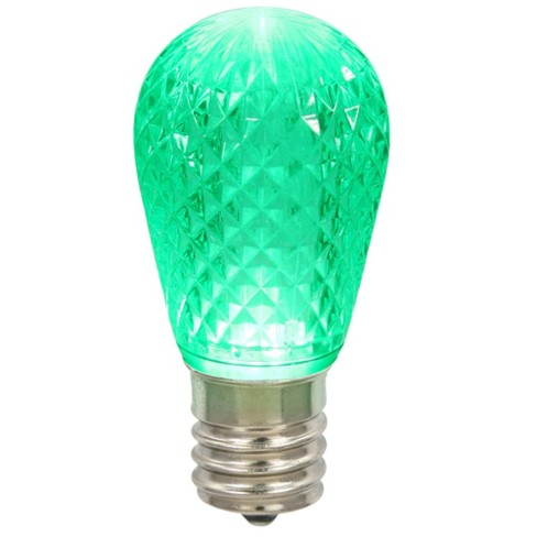 Vickerman Club Pack of 25 LED Green Replacement Christmas Light Bulbs - E26 Base - image 1 of 1