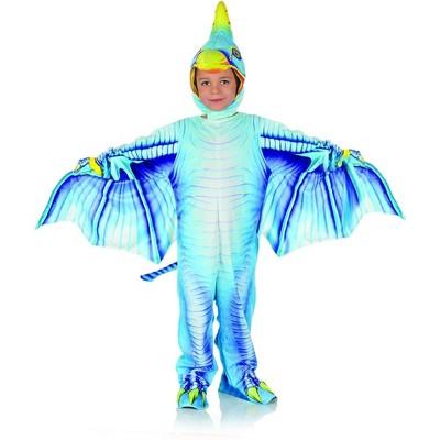 Underwraps Costumes Blue Pterodactyl Printed Child Costume Jumpsuit