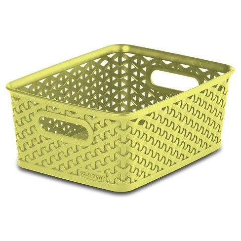 Y Weave Small Storage Bin - Yellow - Room Essentials™ - image 1 of 1