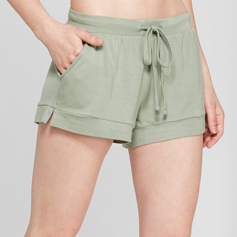 Women's French Terry Pajama Shorts - Gilligan & O'Malley™ Green - image 1 of 2