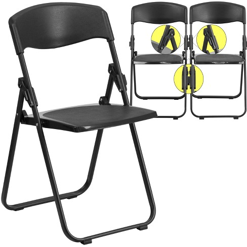 Riverstone Furniture Collection Plastic Folding Chair Black - image 1 of 6
