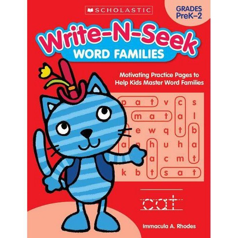 Word Families - (Write-N-Seek:) by  Immacula A Rhodes (Paperback) - image 1 of 1