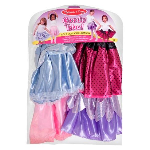 Melissa & Doug Role Play Collection - Goodie Tutus! Dress-Up Skirts Set (4 Costume Skirts) - image 1 of 3