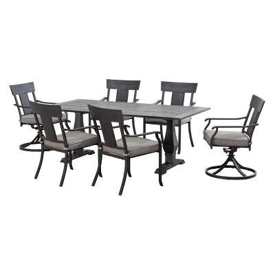 7pc Dashly Steel Dining Set - Sunjoy