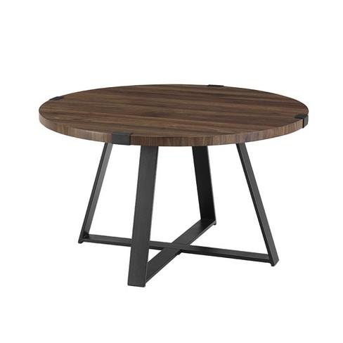 30 Quot Metal Wrap Round Coffee Table Saracina Home Target