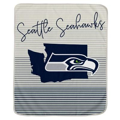 NFL Seattle Seahawks Ultra Fleece State Stripe Blanket