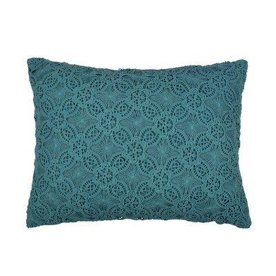 Nanette Lace Overlay Decorative Pillow - Levtex Home