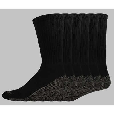 Dickies Big & Tall Dri-Tech Moisture Control Casual Socks 6pk - 12-14
