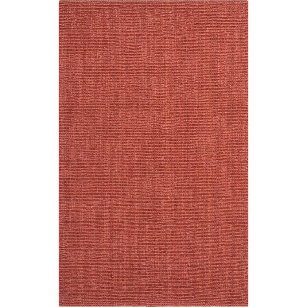 5'X8' Solid Woven Area Rug Rust (Red) - Safavieh
