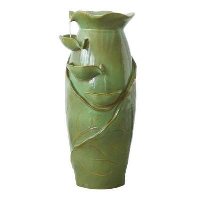 Ceramic Cascading Vines Garden Fountain - Acorn Hollow