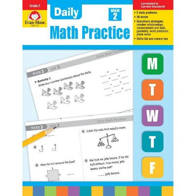 Daily Math Practice, Grade 2 - By Evan-moor Educational Publishers  (paperback) : Target