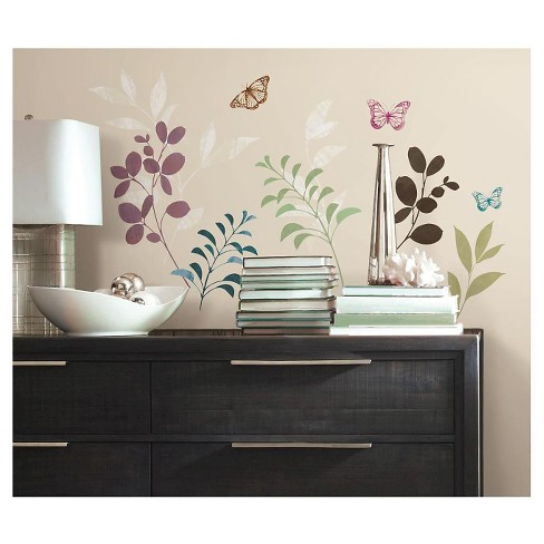 RoomMates Botanical Butterfly Peel and Stick Wall Decals - image 1 of 4